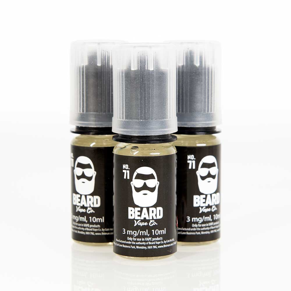 3 x 10ml Beard Vape No. 71 E Liquid