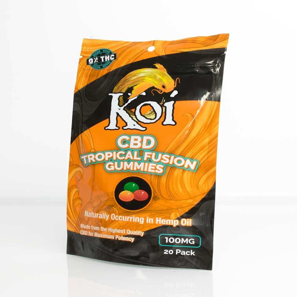 Koi CBD Tropical Fusion Gummies bag