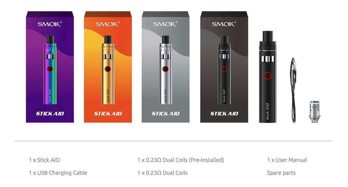 SMOK AIO Kit includes