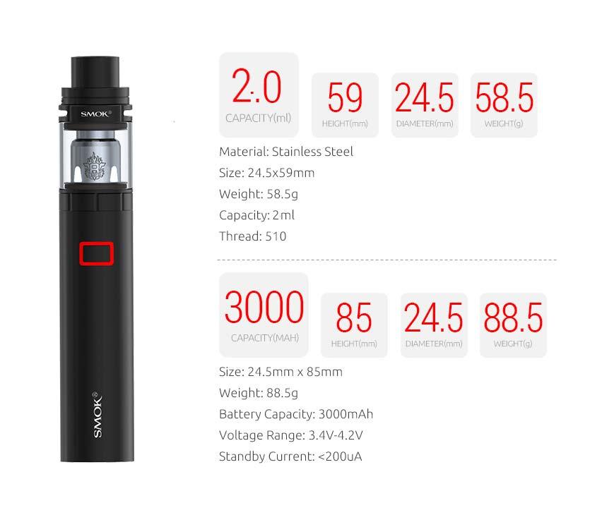 Smok Stick X8 kit schematic